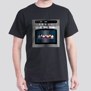 Cute Happy Oven with cupcakes Dark T-Shirt