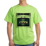 Cute Happy Oven with cupcakes Green T-Shirt