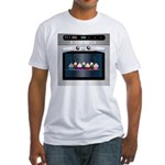 Cute Happy Oven with cupcakes Fitted T-Shirt