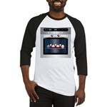 Cute Happy Oven with cupcakes Baseball Jersey