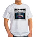 Cute Happy Oven with cupcakes Light T-Shirt
