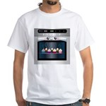 Cute Happy Oven with cupcakes White T-Shirt