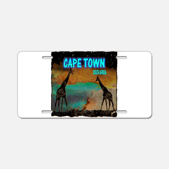cape town africa Aluminum License Plate