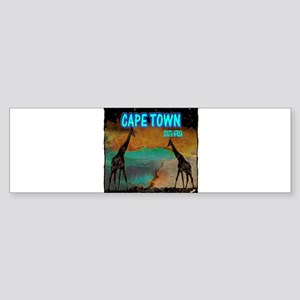 cape town africa Sticker (Bumper)