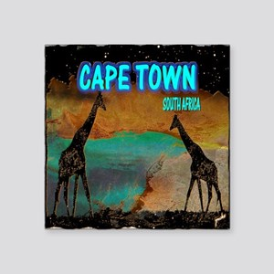 "cape town africa Square Sticker 3"" x 3"""