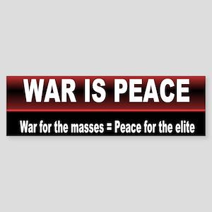 was is peace... Bumper Sticker
