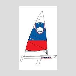 Slovenia Dinghy Sailing Sticker (Rectangle)