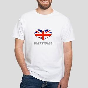 LOVE BASKETBALL UNION JACK White T-Shirt