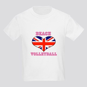 LOVE BEACH VOLLEYBALL UNION JACK Kids Light T-Shir