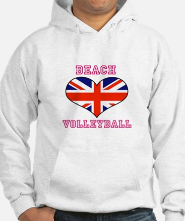 LOVE BEACH VOLLEYBALL UNION JACK Hoodie