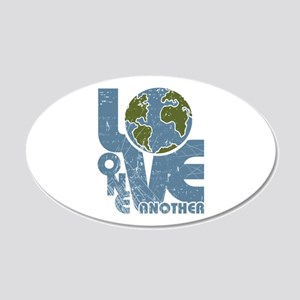 Love One Another 20x12 Oval Wall Decal