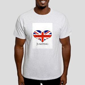 LOVE Equestrian Jumping Union jack Light T-Shirt