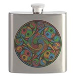 Celtic Stained Glass Spiral Flask