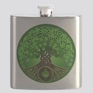 Circle Celtic Tree of Life Flask