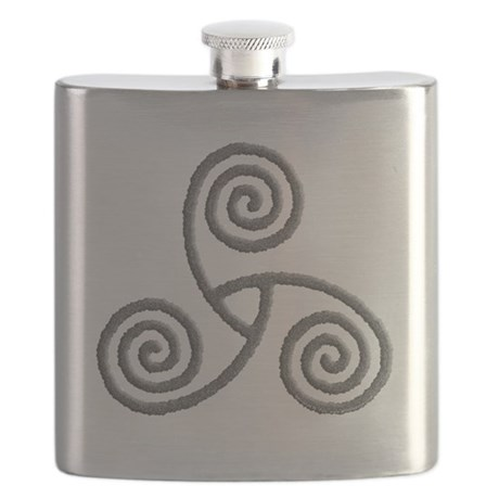 Celtic Triple Spiral Flask