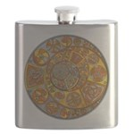 Celtic Crescents Flask