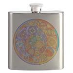 Celtic Crescents Rainbow Flask