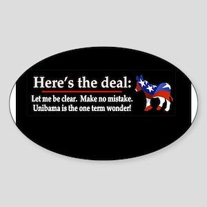 Unibama deal Sticker (Oval)