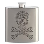 Celtic Skull and Crossbones Flask