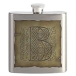 Celtic Letter B Flask