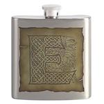 Celtic Letter E Flask