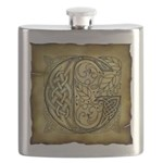 Celtic Letter G Flask