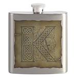 Celtic Letter K Flask