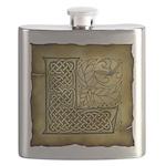 Celtic Letter L Flask