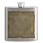 Celtic Letter N Flask