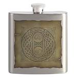 Celtic Letter O Flask
