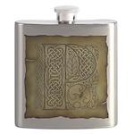 Celtic Letter P Flask