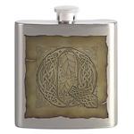 Celtic Letter Q Flask