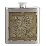 Celtic Letter R Flask