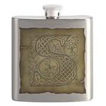Celtic Letter S Flask