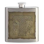 Celtic Letter T Flask