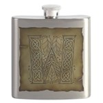 Celtic Letter W Flask
