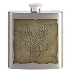 Celtic Letter Y Flask