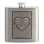 Celtic Knotwork Heart Flask