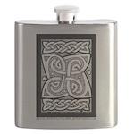Celtic Knotwork Cloverleaf Flask
