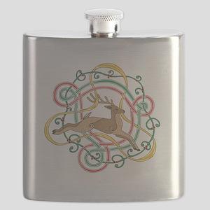 Celtic Reindeer Knots Flask