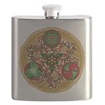 Celtic Reindeer Shield Flask
