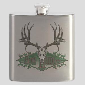 mule deer skull Flask