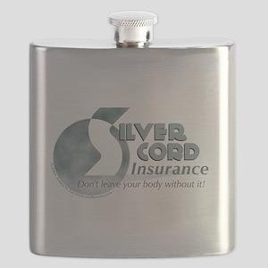 SIlver Cord Insurance Flask