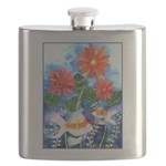 Fish and Flowers Art Flask