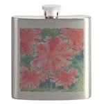 Watercolor Flowers Flask