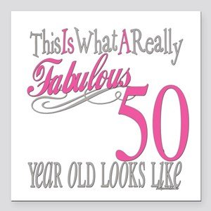 "Fabulous 50yearold Square Car Magnet 3"" x 3"""
