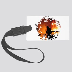Circle Of Flames Large Luggage Tag