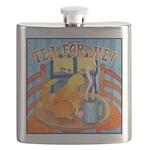 Tea For Me Cat Watercolor Flask