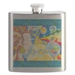 Creation Myth Watercolor Flask