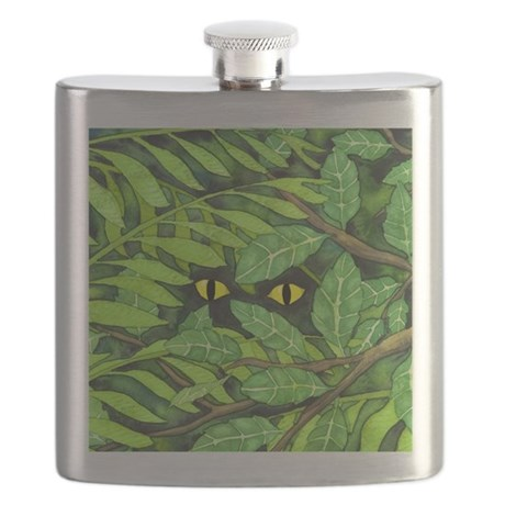 Through the Leaves Watercolor Flask